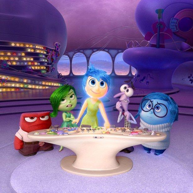 左からアンガー(怒り)、ディスガスト(嫌悪)、ジョイ(喜び)、フィアー(恐れ)、サッドネス(悲しみ)