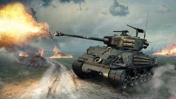 """""""FURY""""とペイントされたシャーマン戦車"""