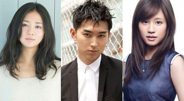 左から、美弥子役の木村文乃、鈴木役の主演・松田翔太、マユ役のヒロイン・前田敦子