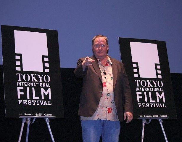 第27回東京国際映画祭オープニングで上映された『ベイマックス』の製作総指揮を務めたジョン・ラセター