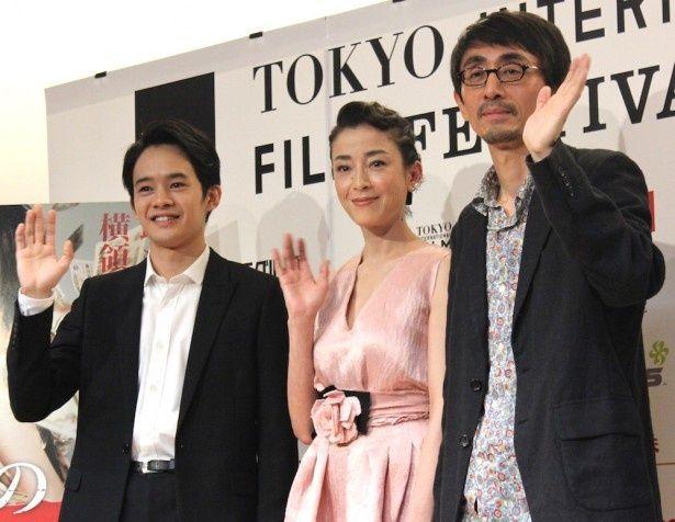 宮沢りえ、池松壮亮、吉田大八監督が笑顔でアピールした