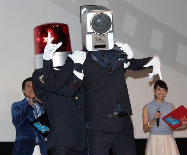 パトランプ男がカメラ男を逮捕!
