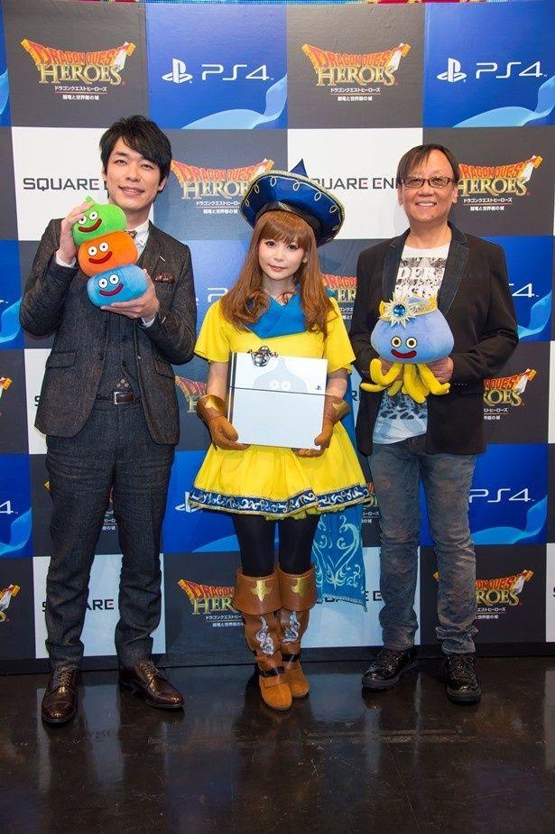 ドラクエシリーズ新作「ドラゴンクエストヒーローズ 闇竜と世界樹の城」で、中川翔子がおてんば&怪力で人気のキャラ・アリーナの声優に大抜てき!
