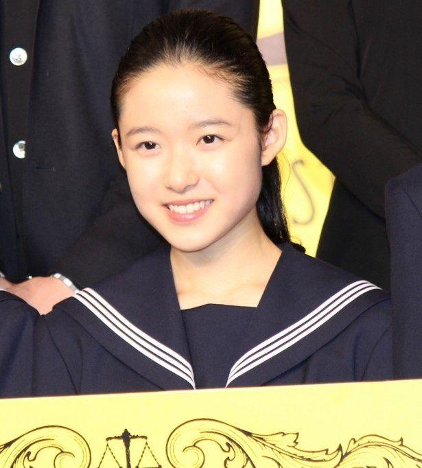 役名でデビュー!『ソロモンの偽証』主人公の藤野涼子がマスコミ陣に初お披露目