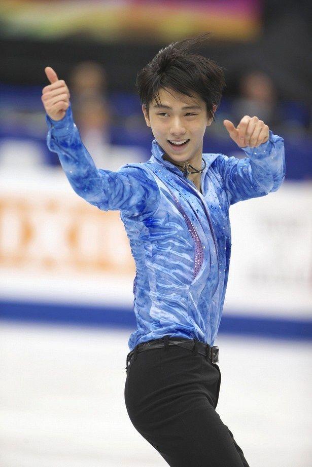 日本で開催された「2014年世界フィギュアスケート選手権」の羽生結弦のショートプログラム。NHK杯でも羽生らしい笑顔が見られるだろうか