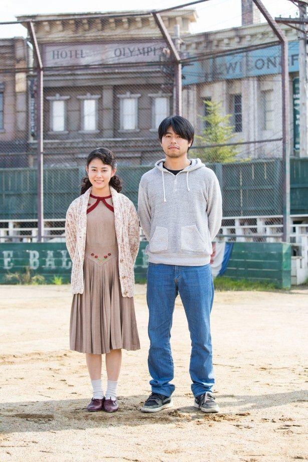 監督の石井裕也(右)とエミー笠原役の高畑充希(左)