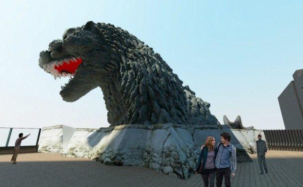 2015年4月、新宿にゴジラヘッドが出現する!