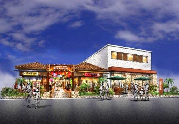 沖縄県産食材を使った屋台村と離島マルシェが設置される「国際通り屋台村」