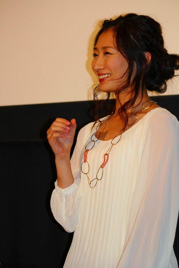 BSジャパンの新ドラマ「ワカコ酒」特別上映会に登場した主演の武田梨奈