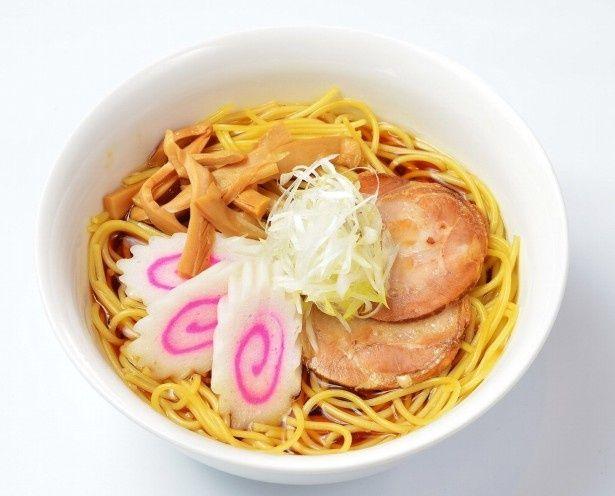 醤油ベースが決め手のスープパスタ「一楽のラーメン風パスタ」(880円)