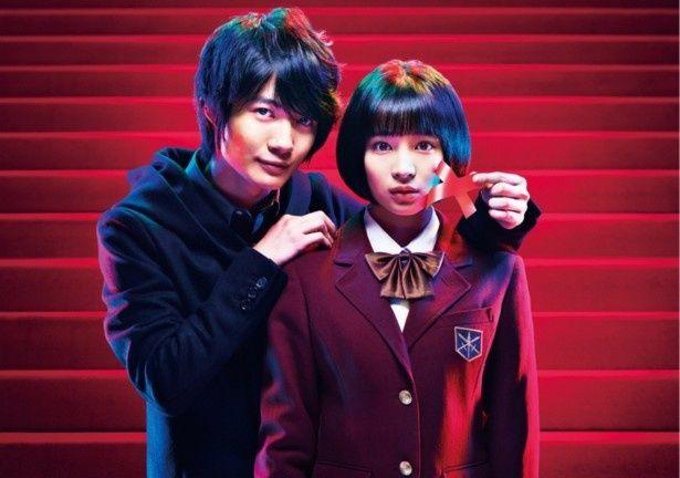新土曜ドラマ「学校のカイダン」のポスターも公開。主演の広瀬すず(写真右)と、初共演となる神木隆之介(写真左)