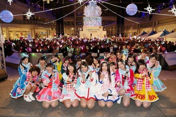 16thシングル「12月のカンガルー」のニコ生24時間放送企画を完走した後、急きょ開催となった屋外イベントに登場したSKE48