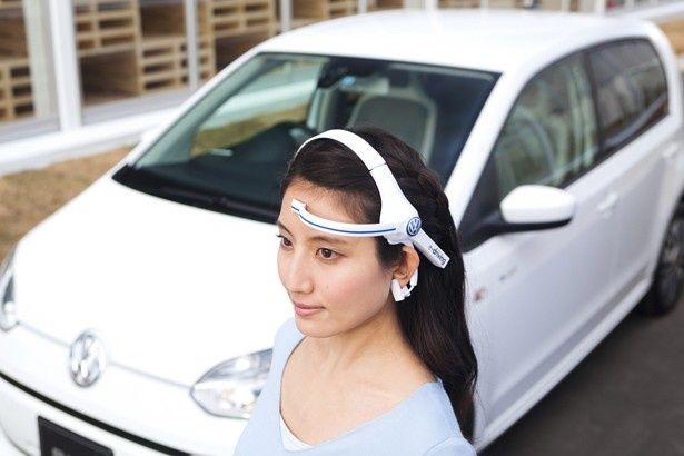 「感性アナライザ」で脳波を測定する「e-driving」を実施中