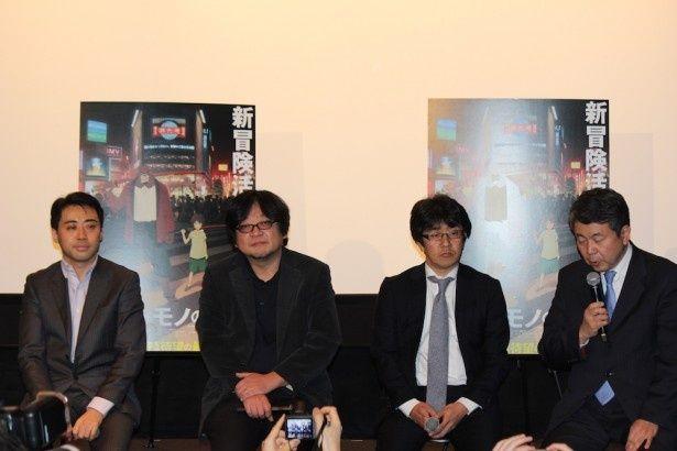 【写真を見る】細田守監督の新作アニメ『バケモノの子』。公開されたポスタービジュアルとともに会見が行われた