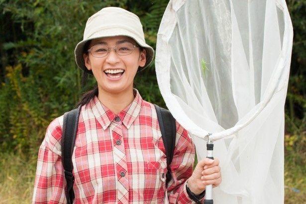 '15年3月にWOWOWで放送予定のドラマW「十月十日の進化論」で昆虫博士役に挑戦する主演の尾野真千子