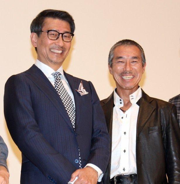 中井貴一と柳葉敏郎が共演の感想を笑顔で明かした