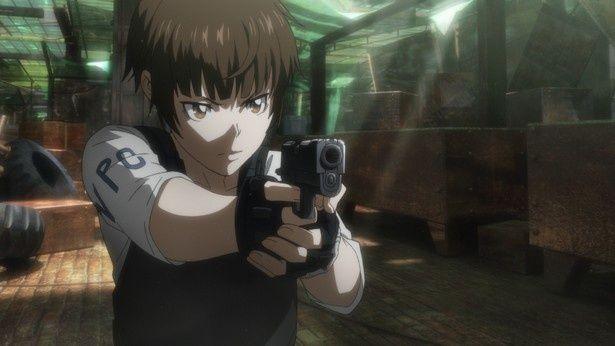 花澤が演じる常守朱はTVシリーズ第1期、2期を経て成長をとげた物語の中心キャラクター
