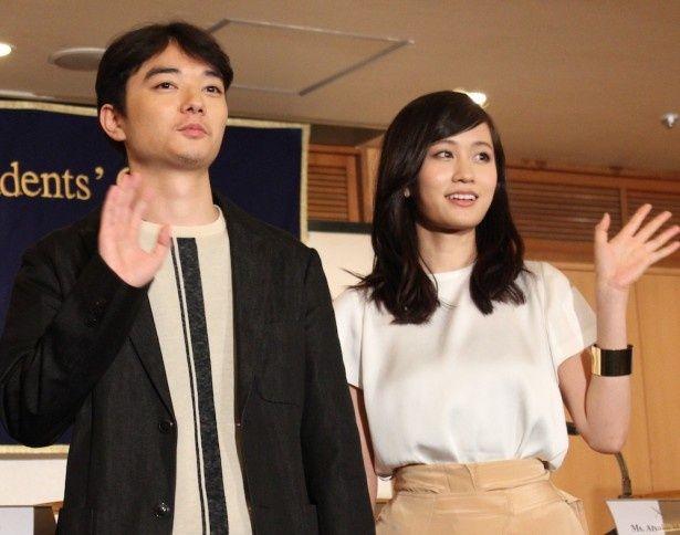 染谷将太、前田敦子が外国人記者からの鋭い質問に回答!