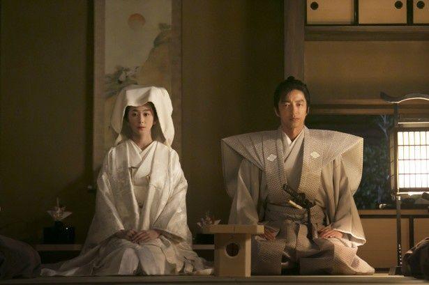 1月18日(日)放送の「花燃ゆ」第3話で、寿(優香)と伊之助(大沢たかお)の婚礼が行われる