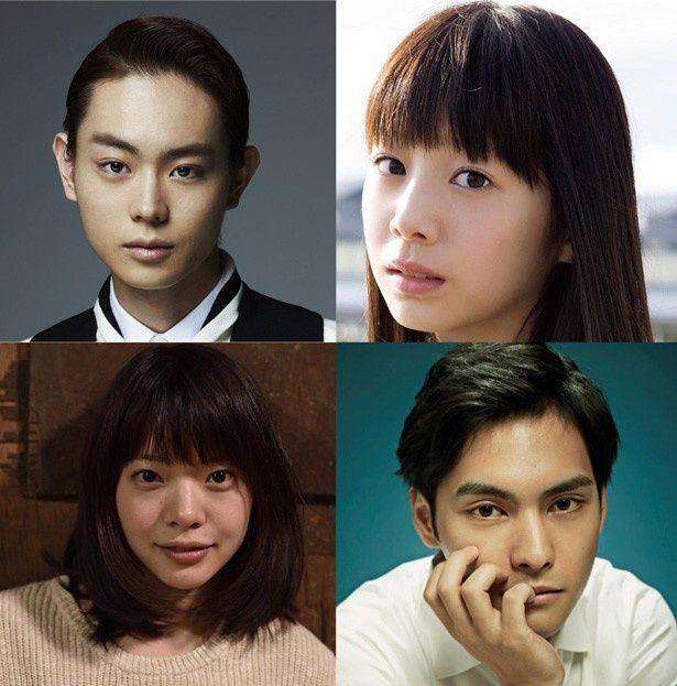 『ピンクとグレー』出演俳優の菅田将暉、夏帆、岸井ゆきの、柳楽優弥