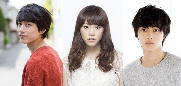 主演の桐谷美玲、共演の山崎賢人、坂口健太郎