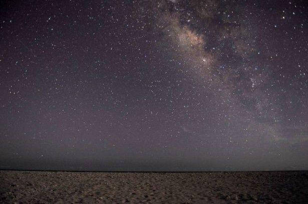 久米島・ハテの浜からみた星空