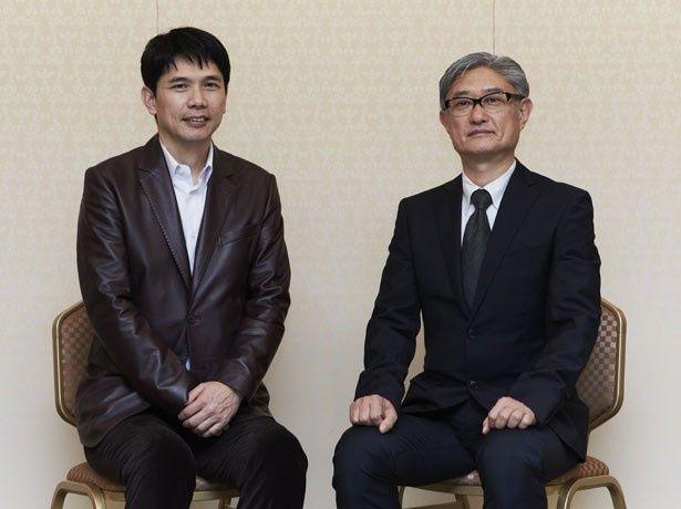 本作に懸ける熱い思いを語ってくれた天童荒太(左)と監督の堤幸彦(右)