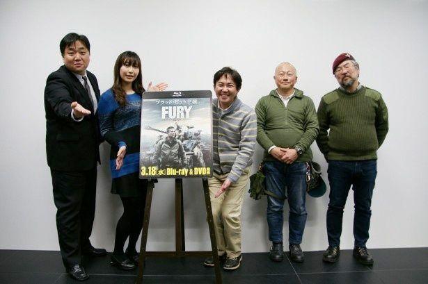 (左から)ジャンクハンター吉田、中村桜、林家三平、杉山潔、青井邦夫