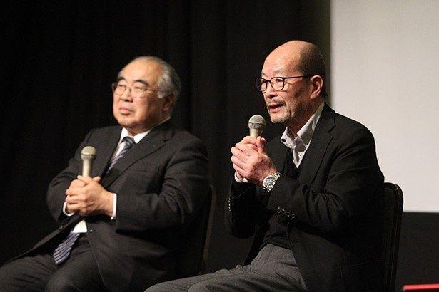 『鉄道員 ぽっぽや』の降旗康男監督とプロデューサーの坂上順が登壇した