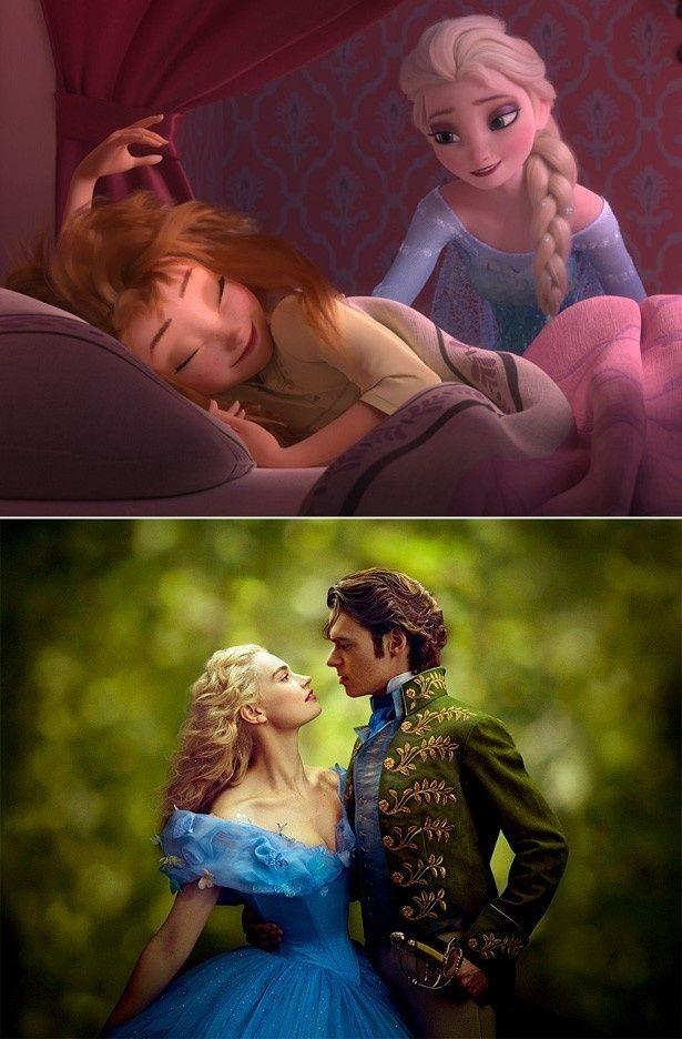4月25日(土)より同時上映される『アナと雪の女王/エルサのサプライズ』と『シンデレラ』