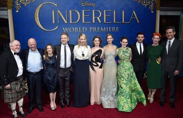 『シンデレラ』ワールドプレミアに集結したケイト・ブランシェットらキャストとケネス・ブラナー監督らスタッフたち