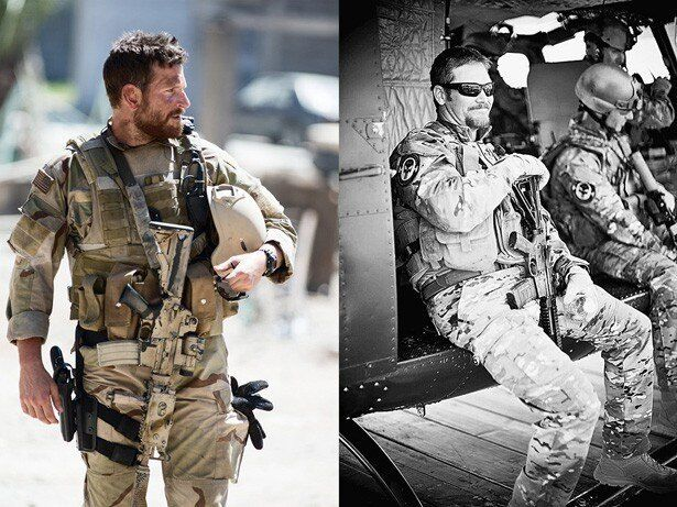 写真左がクーパー、右がクリス・カイル。そっくり!