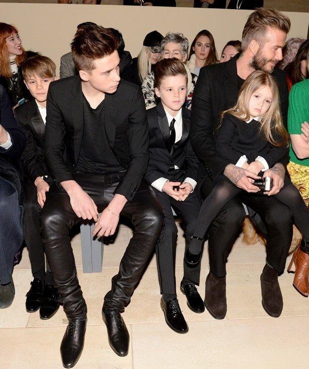 3人の息子たちと娘もスタイリッシュな子どもとして世界中の注目を集めている