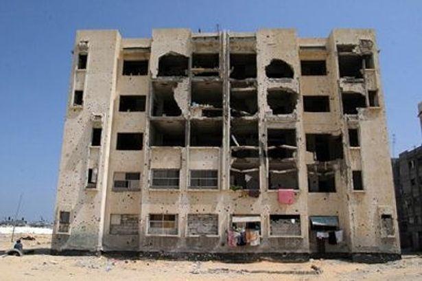 破壊されたアパート