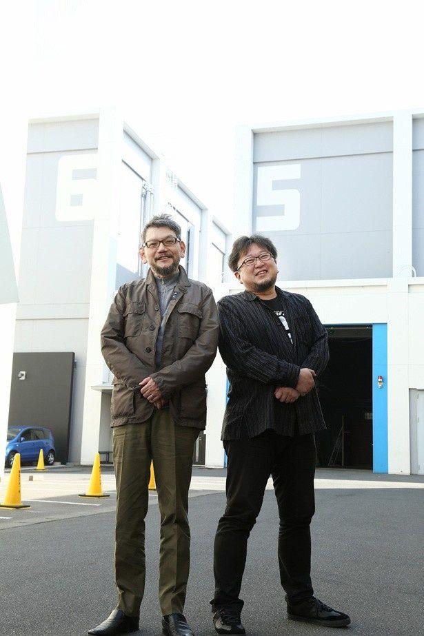 脚本・総監督を務める庵野秀明(左)と監督・特技監督を務める樋口真嗣(右)