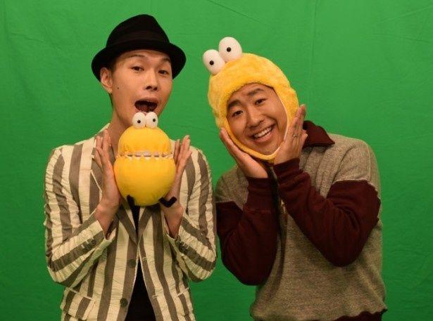 この春、「テレ玉くんのうた ハライチと踊ろう!」が完成!ハライチ・澤部佑(写真右)は「将来は娘にも教えて一緒に踊りたいです」とコメント