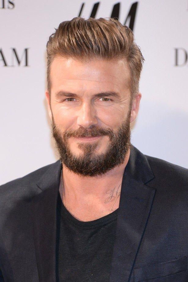 最近ふさふさのひげを剃ったというデビッド・ベッカム