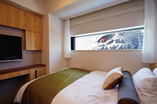 ホテル グレイスリー 新宿に6部屋設置される予定のゴジラビュールーム