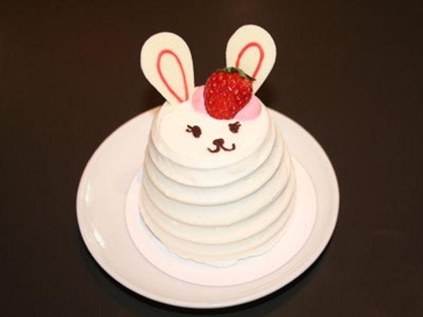 """ウサギの装飾がかわいらしい""""ノラのモフモフケーキ"""""""