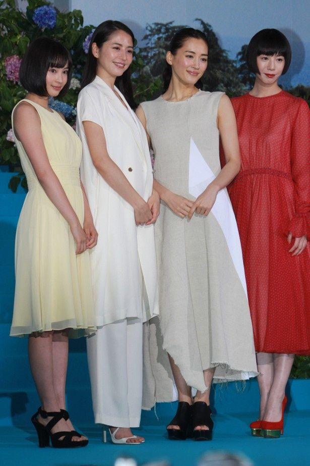 【写真を見る】綾瀬はるか、長澤まさみ、夏帆、広瀬すずの美しい全身ショットはこちら!