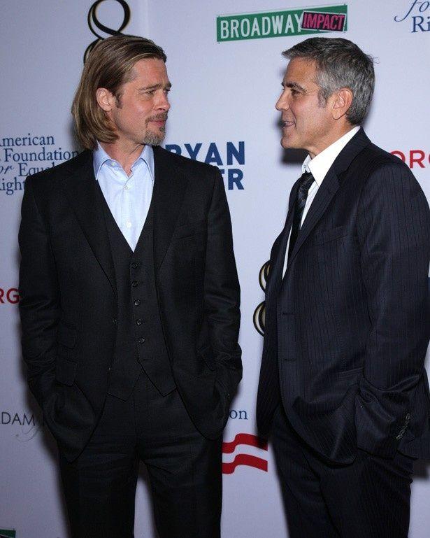 ブラッド・ピットとジョージ・クルーニーの友情に亀裂?