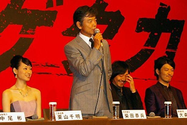 柴田恭兵は「(スタッフ、キャストの皆と)早くもう一度会いたいなと思いました」と「ハゲタカ」愛もコメント