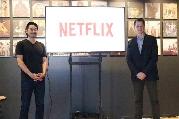 日本オフィスで挨拶したNetflixのグレゴリー・K・ピーターズ(代表取締役社長)と大崎貴之(副社長)