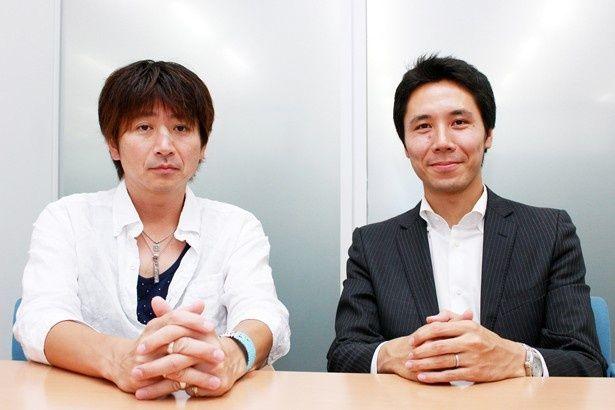 「THE LAST COP/ラストコップ」を手掛けた日本テレビプロデューサーの戸田一也氏(左)と、Huluプロデューサーの岩崎広樹氏(右)