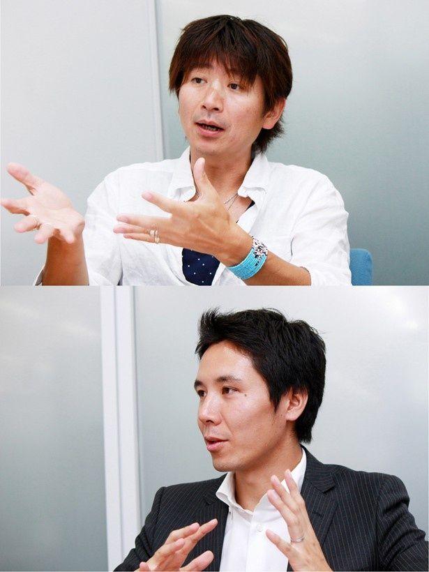 「THE LAST COP/ラストコップ」を手掛けた日本テレビプロデューサーの戸田一也氏(上)と、Huluプロデューサーの岩崎広樹氏(下)