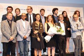 フランス映画祭開幕!E・ドゥヴォスの日本語挨拶に沸く