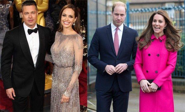 ウィリアム王子とキャサリン妃、ブラッド・ピットとアンジェリーナ・ジョリーの4人がアフタヌーンティー