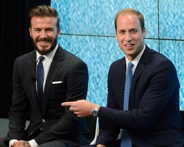 ウィリアム王子とデビッド・ベッカム