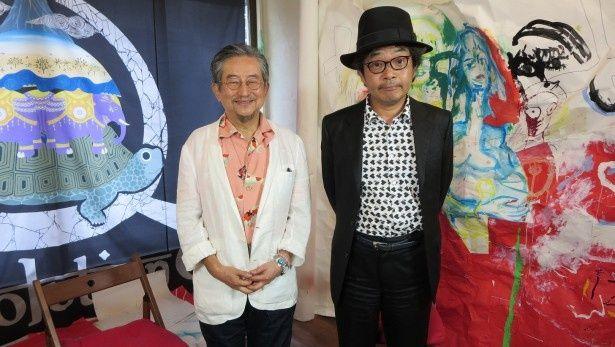 映画監督・園子温(右)と漫画家・永井豪(左)が対談