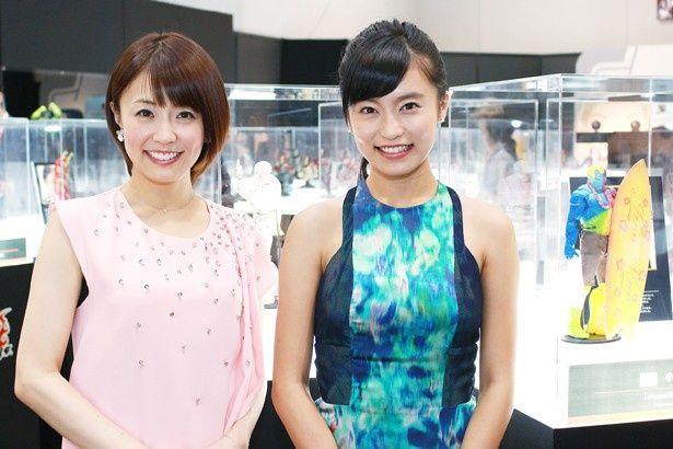 「アベンジャーズ200%ホットトイズ」のプレスプレビューに登場した小島瑠璃子と小林麻耶